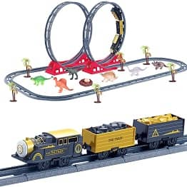 Little Toy Train with Dinosaur