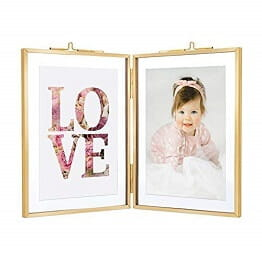 Glass Photo Frames Double Open