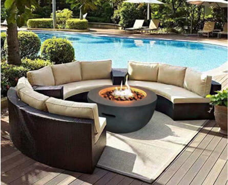 gas fire pits for garden - Round Fire Pit CAGF3019-18