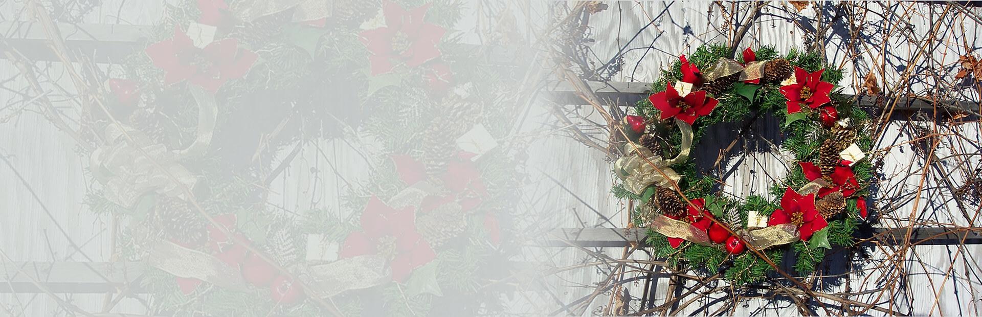 Christmas Wreath Garland Banner