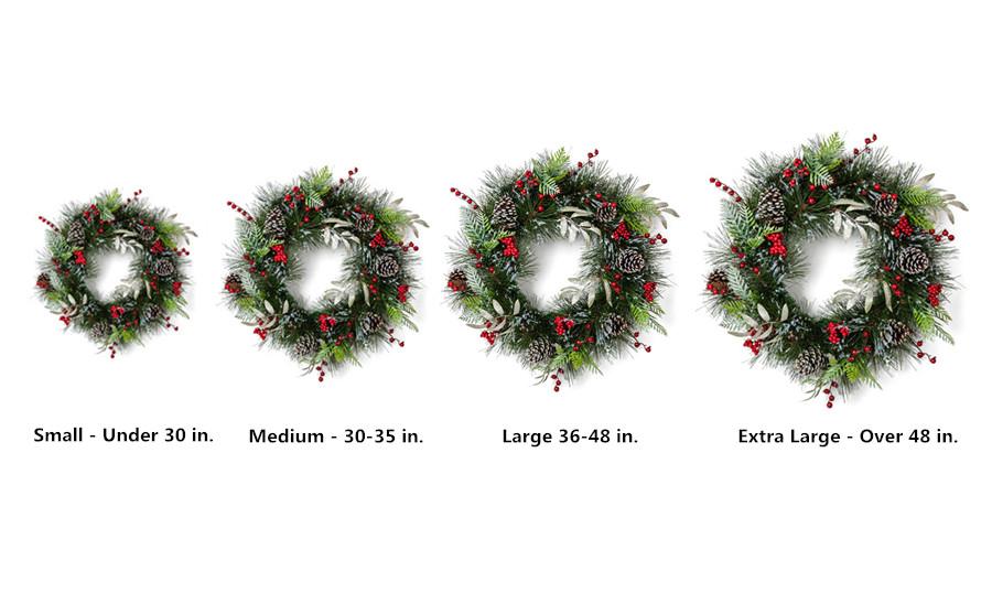 Christmas Wreaths Size