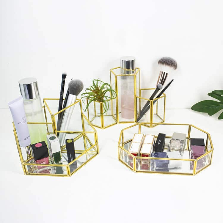 Glass Makeup Storage