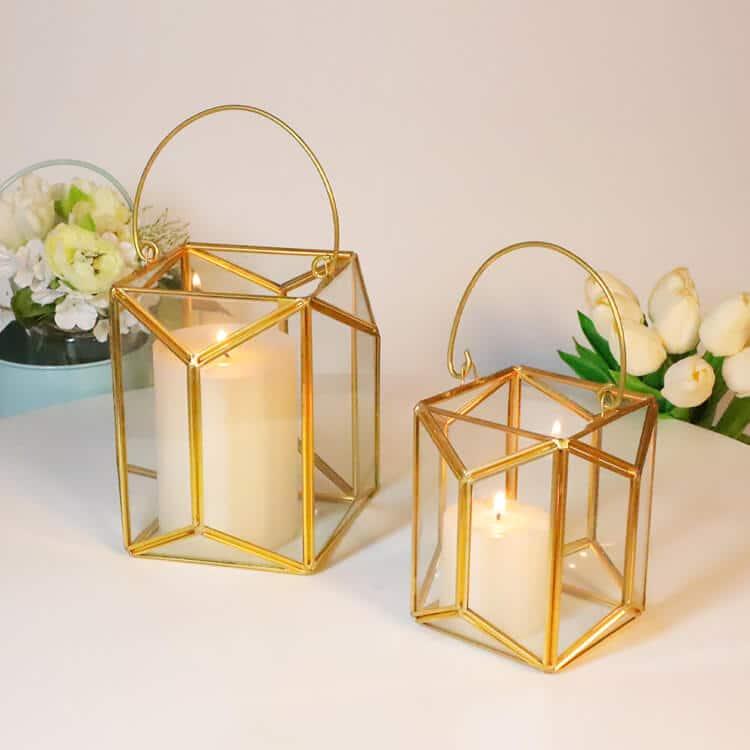 Glass Terrarium Candles Holder for Interior Design
