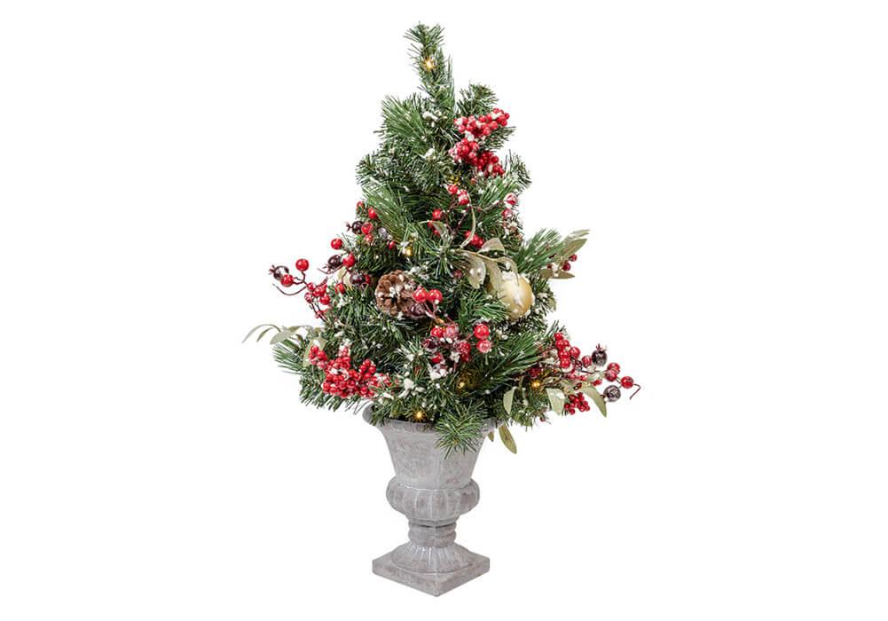 Lighted Christmas Urn Filler CAX0280