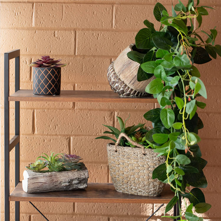 Artificial Sweet Potato Leaf Hanging Plants for Wall Decoration