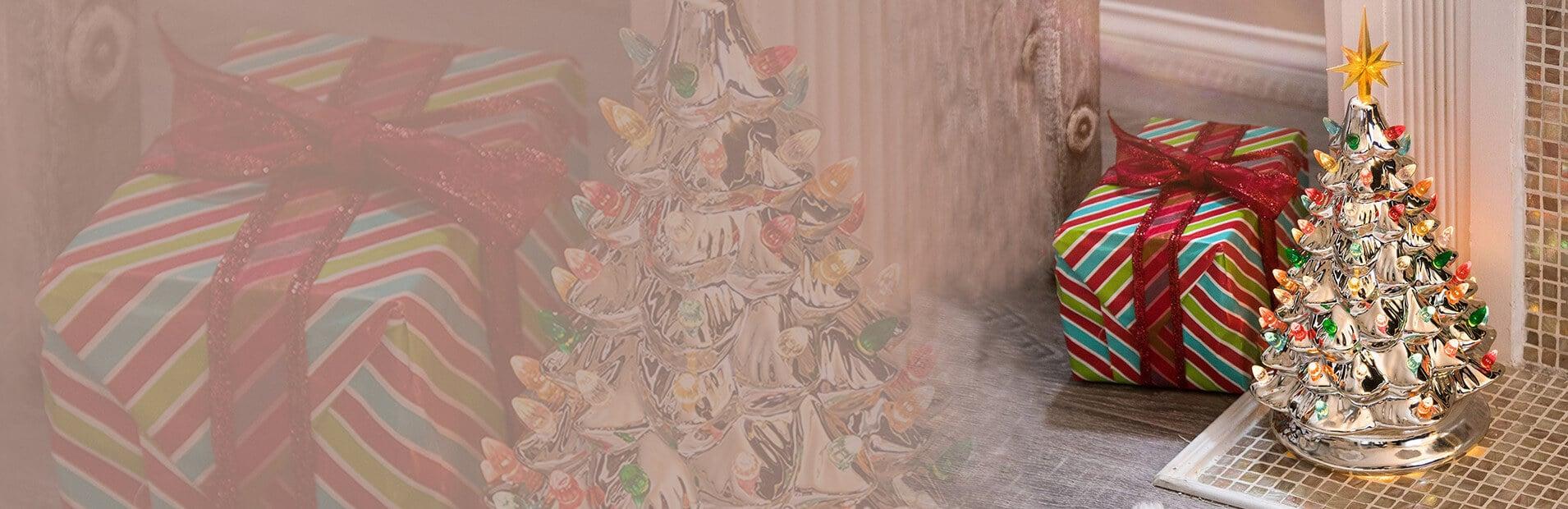 Ceramic Christmas Tree Banner