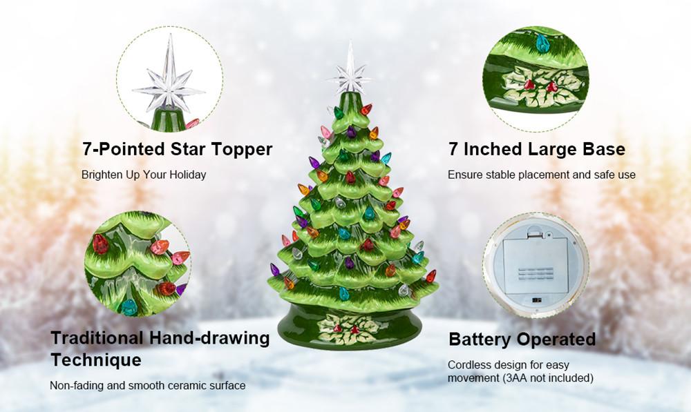 Ceramic Christmas Tree Feature
