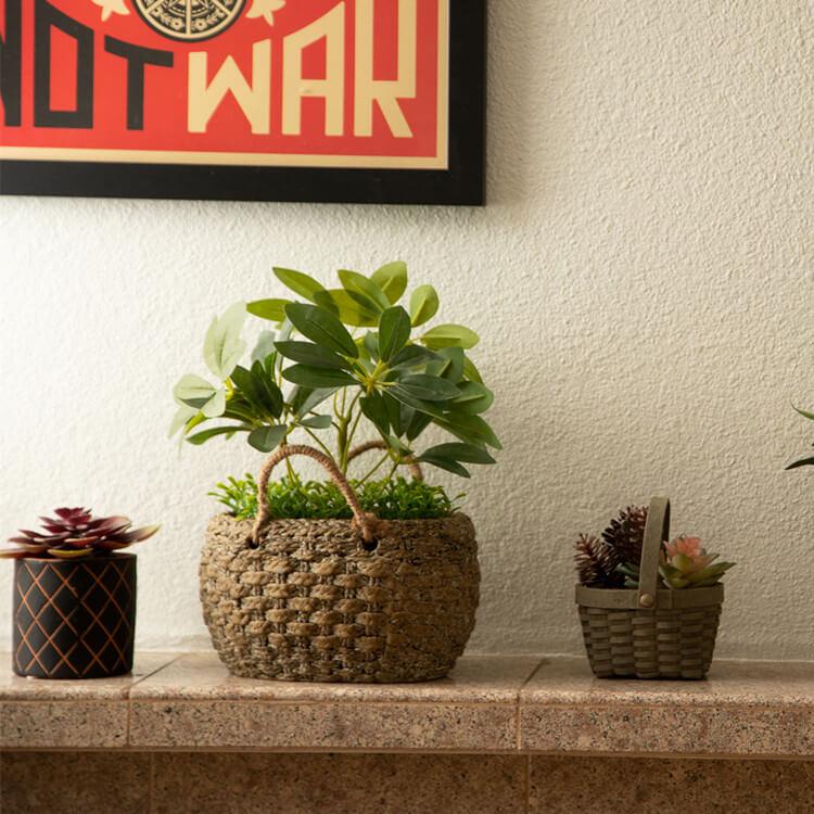Mini Faux Plastic Potted Plants