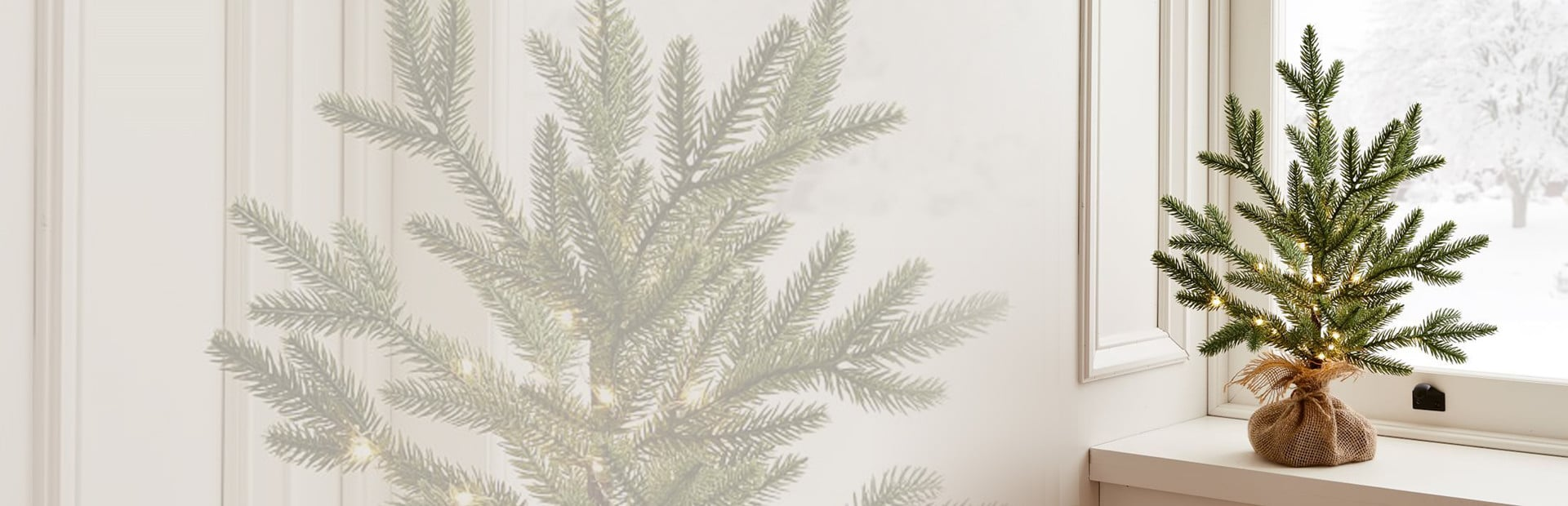 Potted Christmas Tree Banner