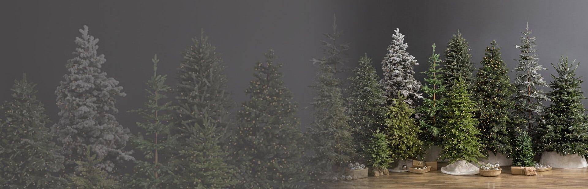 Pre-Lit Christmas Tree Banner