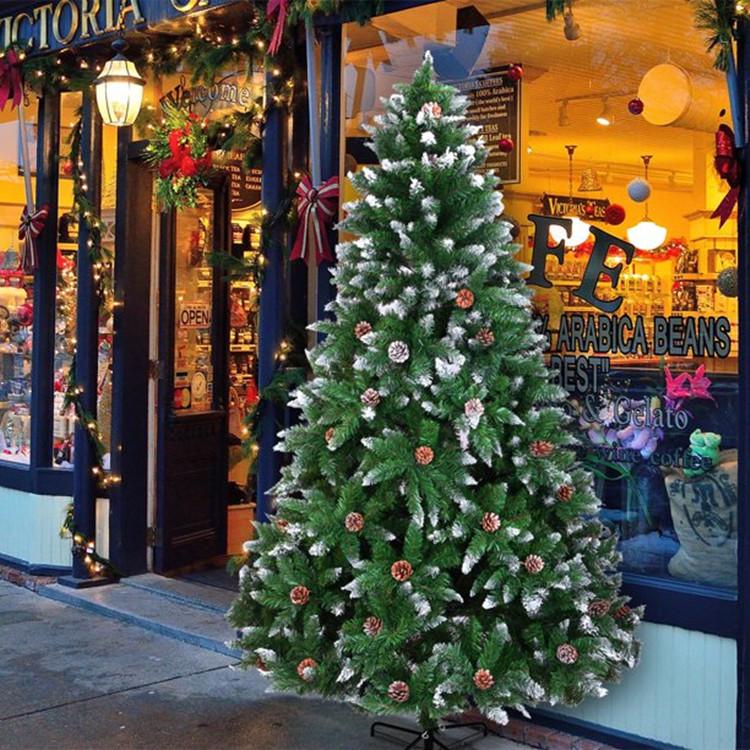 Snow Flocked Christmas Trees