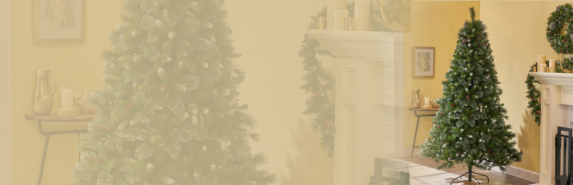 Unlit Christmas Tree Banner