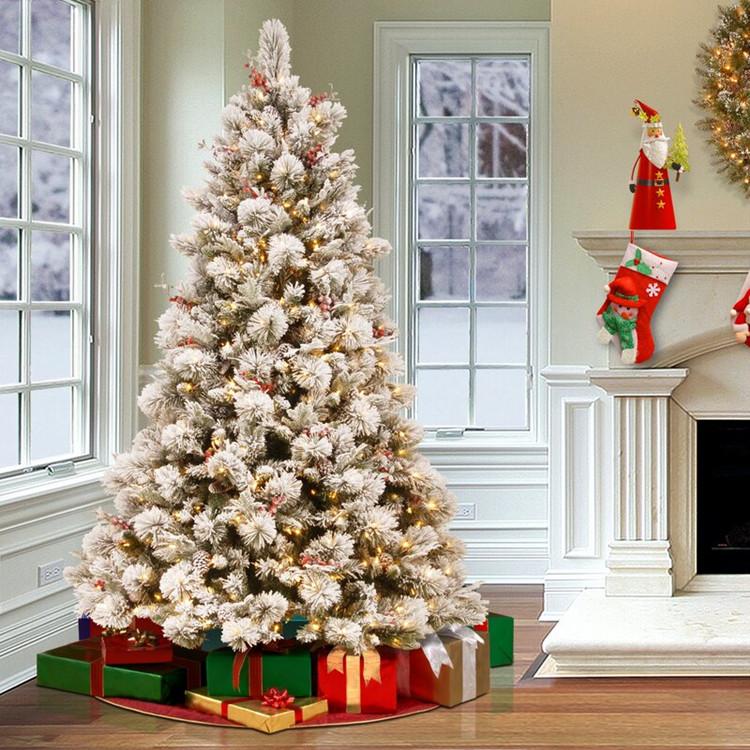 Wonderful Flocked Christmas Trees