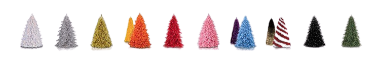 Christmas Trees Colors for Selection