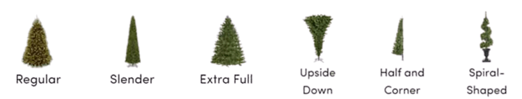 Christmas Trees Shapes