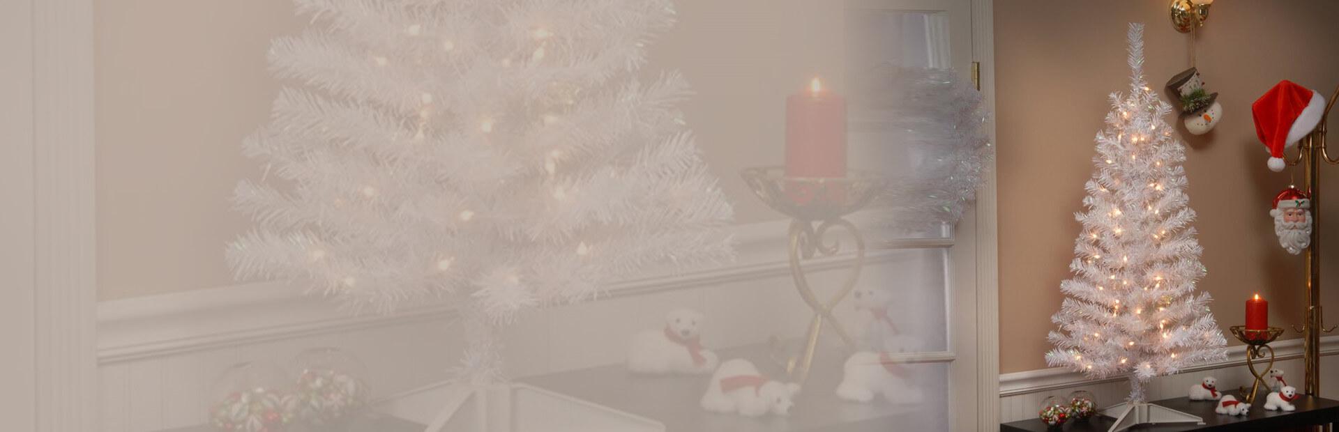 Tinsel Christmas Tree Banner