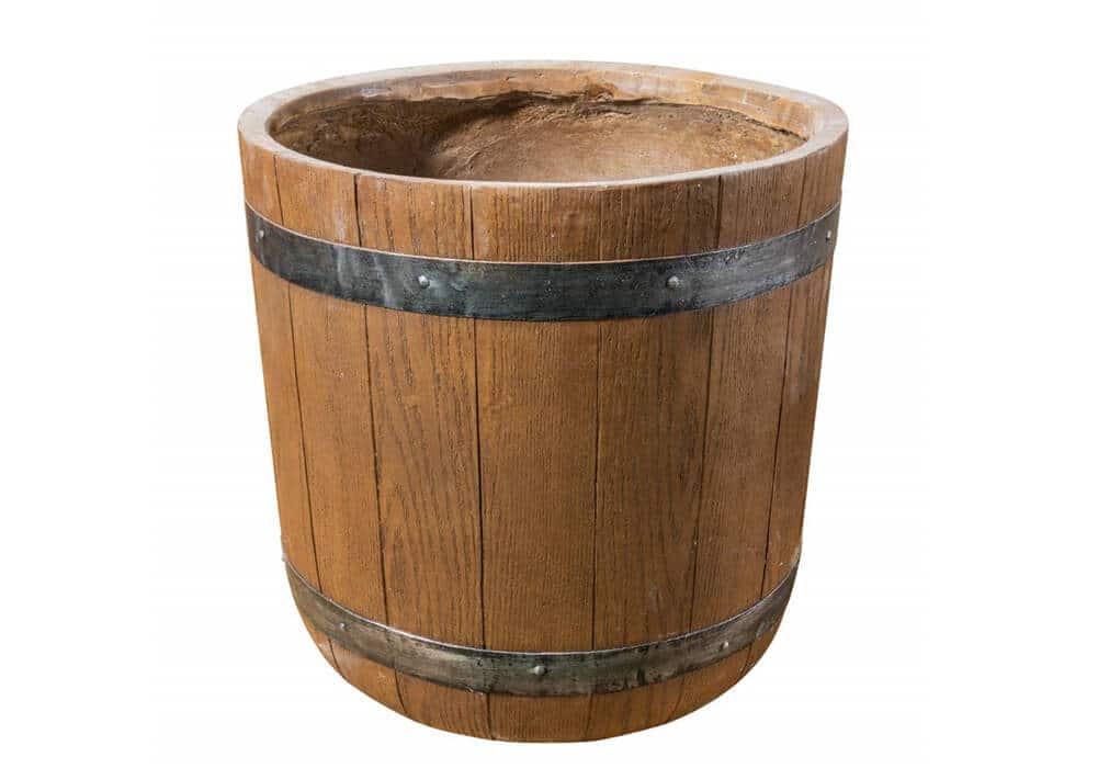 Fiber Clay Barrel Flowerpot CA200511