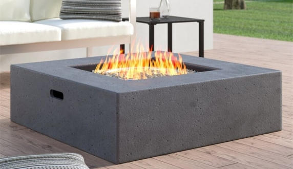 custom fire pit table