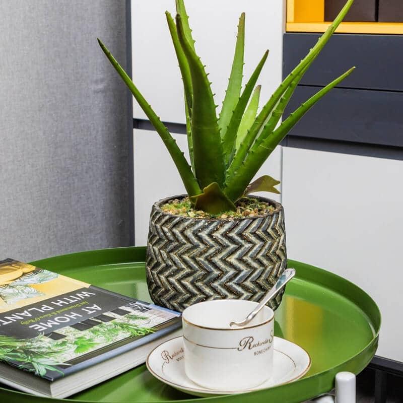 Aloe Bonsai Artificial Foliage