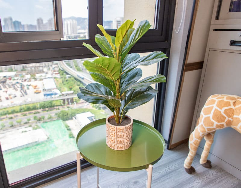 Potted Fiddle Leaf Fig Artificial Tree