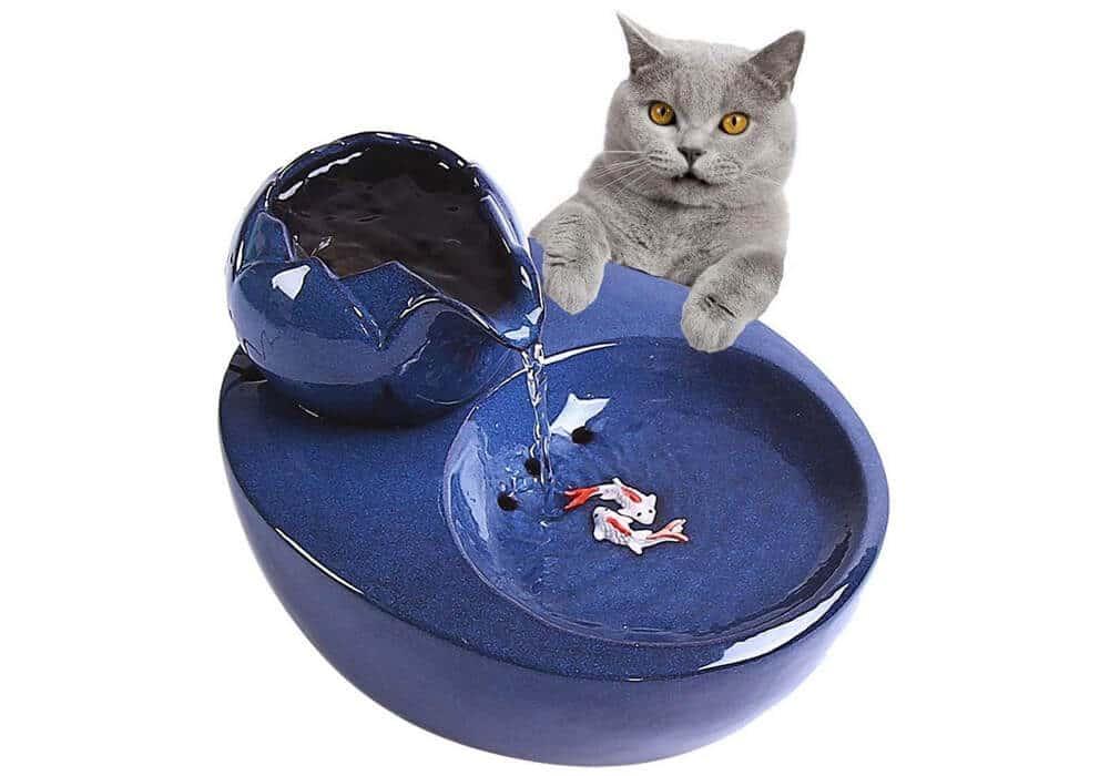 Ceramic Cat Water Fountain CA-PWF101