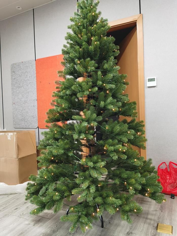 artificial prelit christmas trees sample