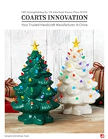 Ceramic Christmas Trees Catalog Banner