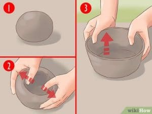 Figure 13 Steps to mold clay