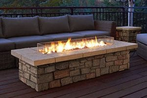 Figure 18 Rectangular Propane Fire Pit Table