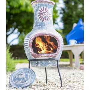 Figure 6 A painted and carved clay chiminea