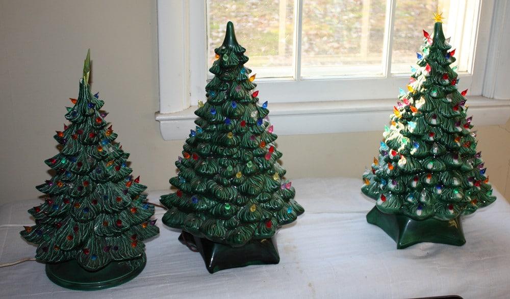 Nostalgic Green Ceramic Christmas Tree