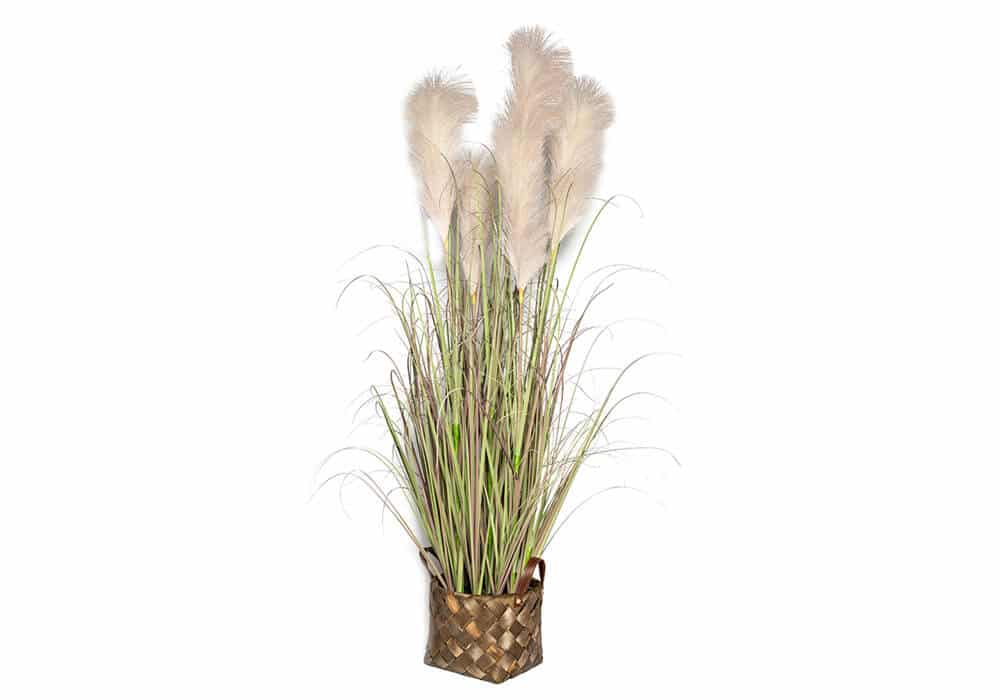 Potted Artificial Pampas Grass