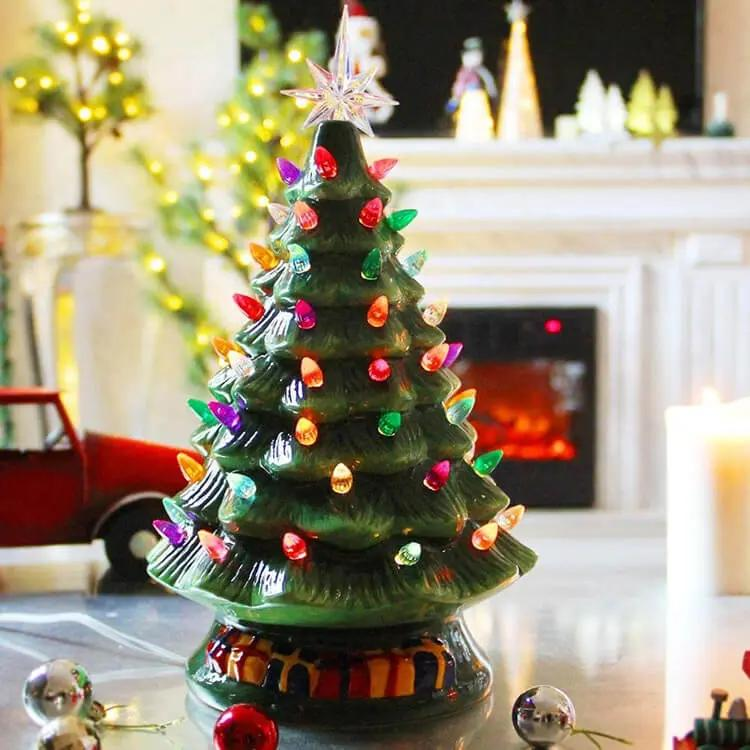 classic green ceramic christmas tree