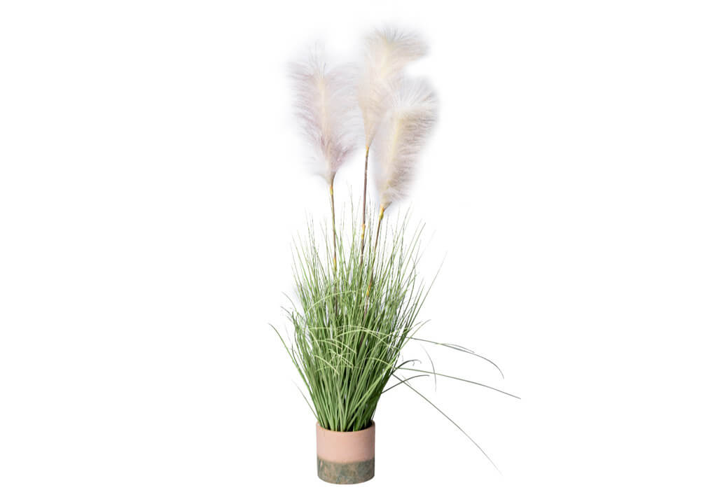 Faux Potted Pampas Grass Pic