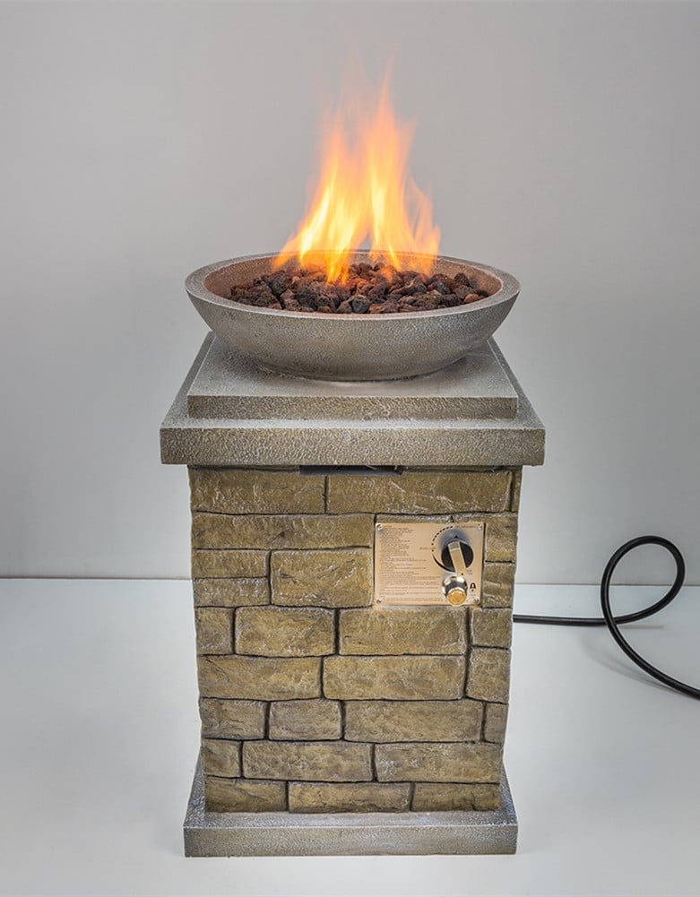 MgO Square Gas Fire Pit