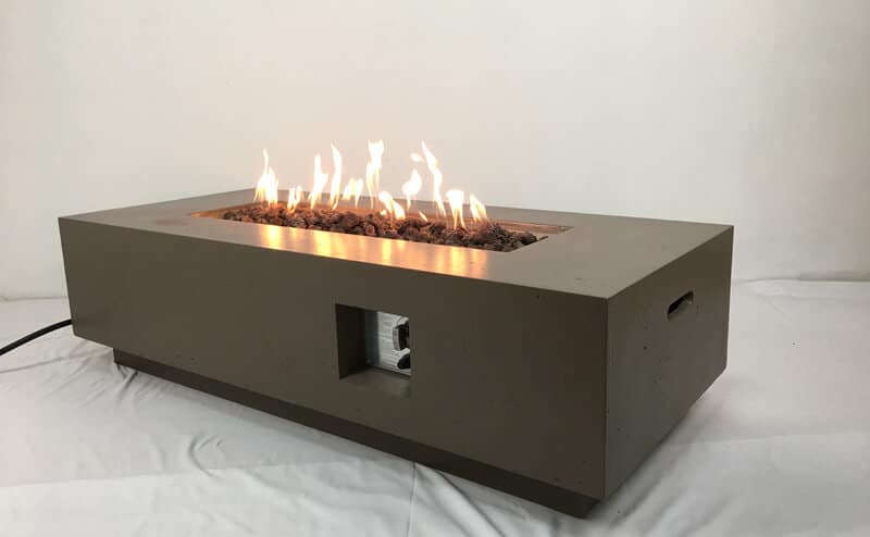 Rectangular MgO Fire Pit Table