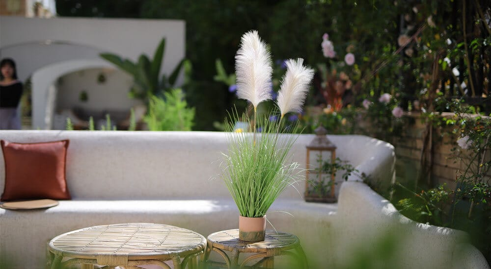 faux potted pampas grass for outdoor