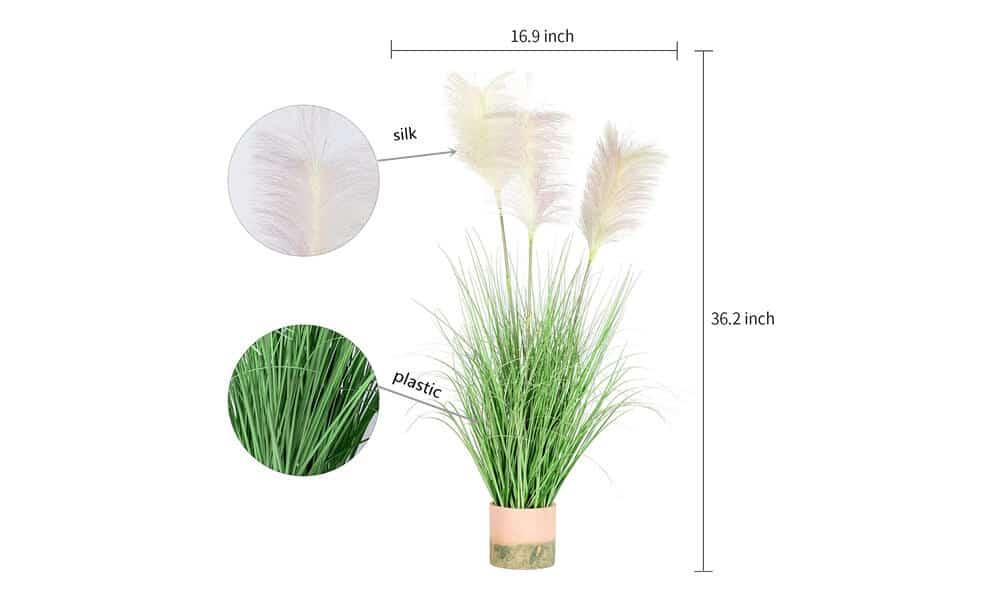 Artificial Pampas Grass Feature