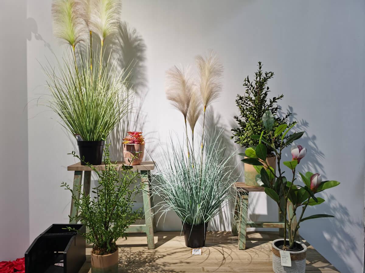 Artificial Pampas Grass in Showroom