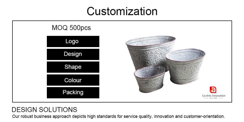 Custom Metal Planter by Co-Arts
