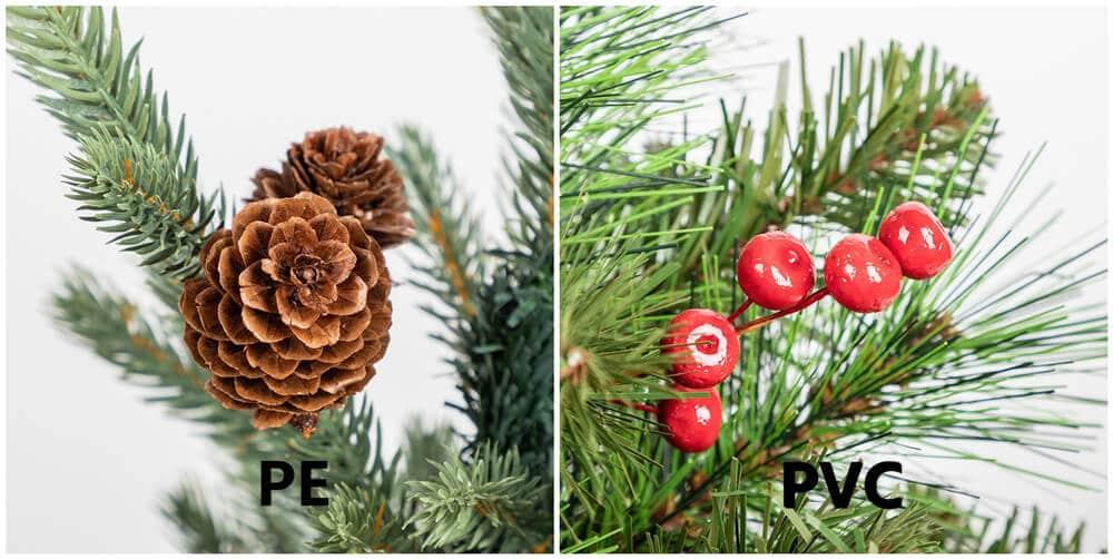 PE Christmas Tree VS PVC Christmas Tree